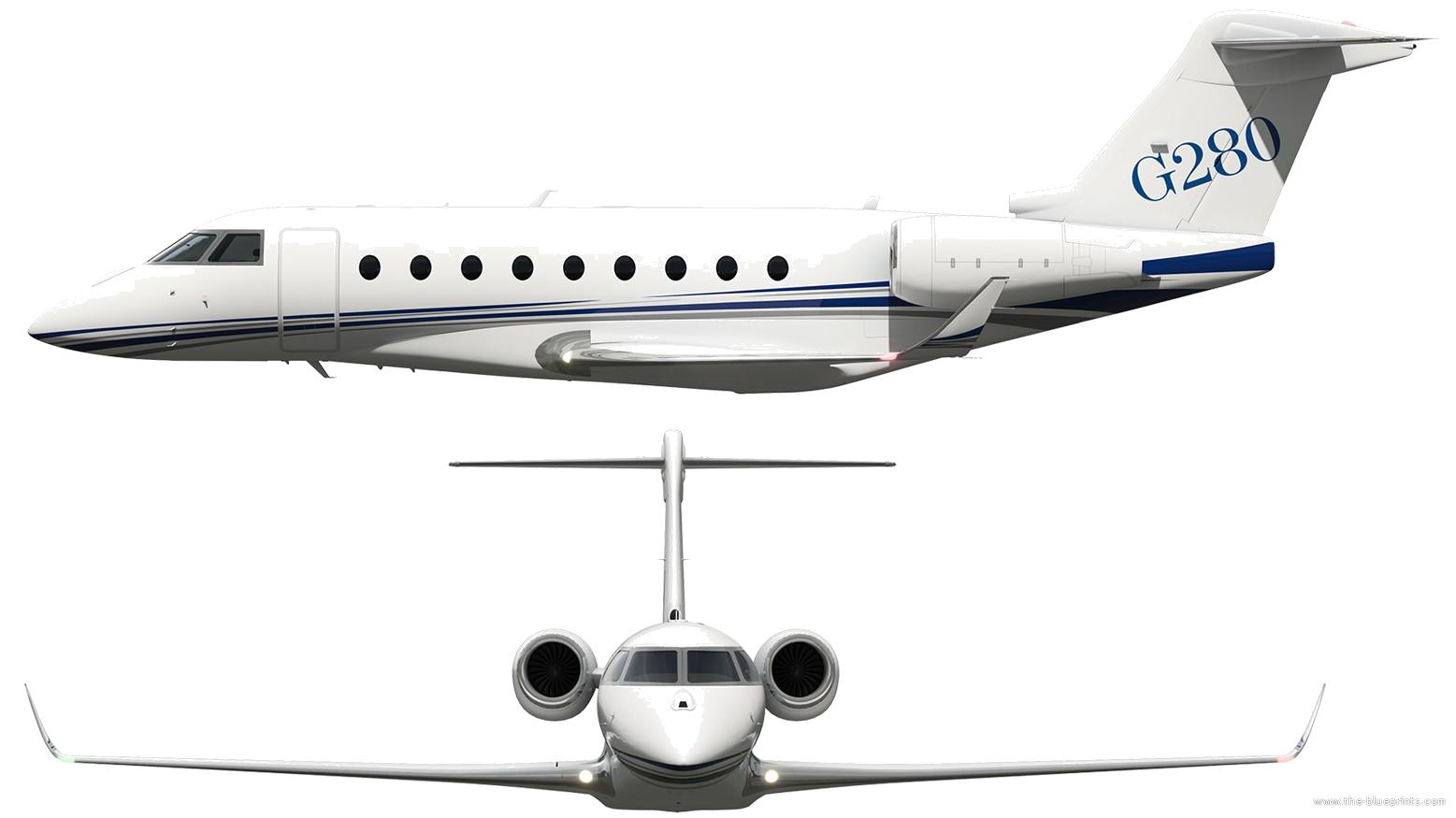 Blueprints modern airplanes modern g gulfstream g280 gulfstream g280 malvernweather Images