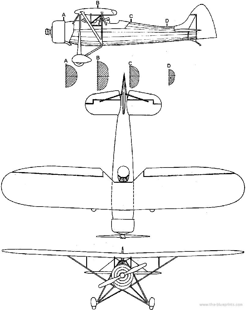 Blueprints Modern Airplanes Modern H Hirtenberg Hs 9