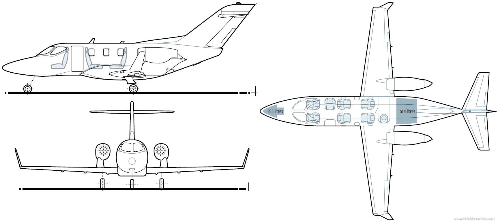 Blueprints modern airplanes modern h hondajet hondajet malvernweather Images
