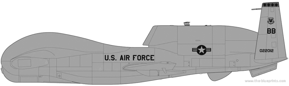 global hawk dimensionsGlobal Hawk Drawing