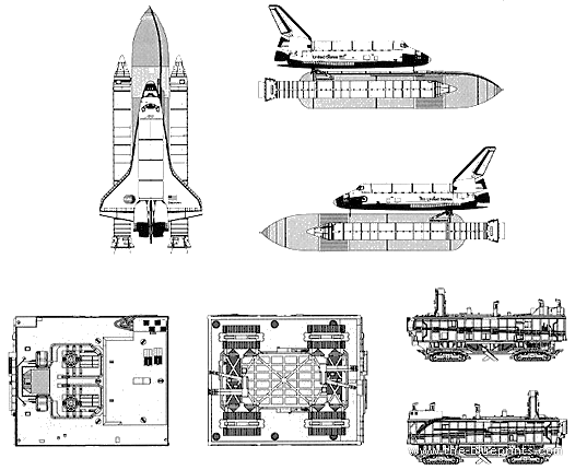 space shuttle blueprints