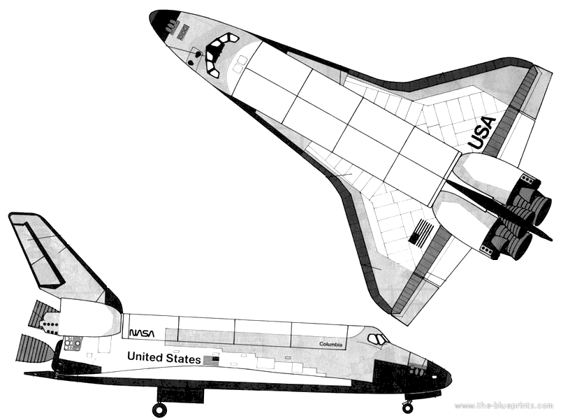 space shuttle cockpit dimension drawing - photo #41
