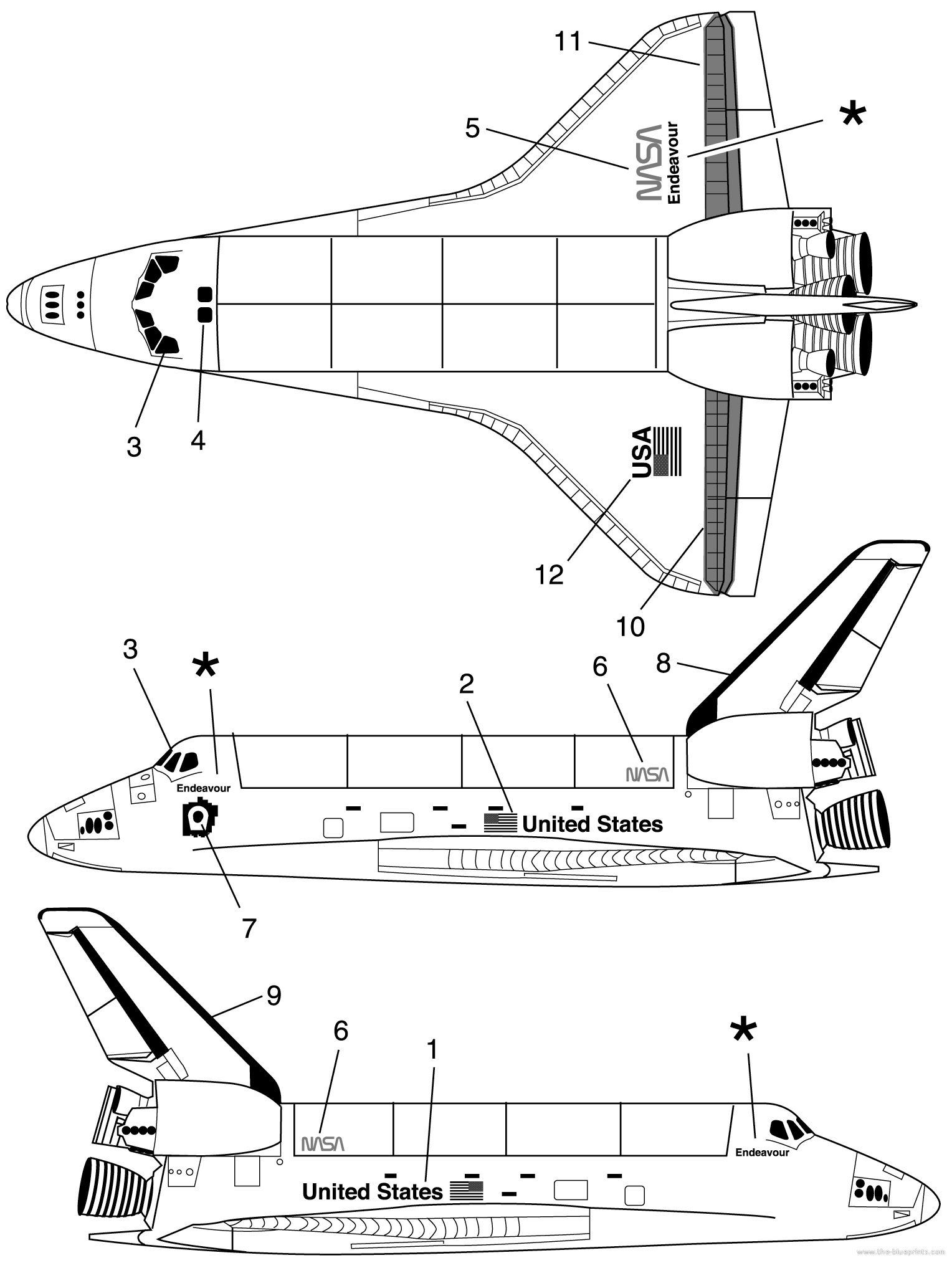space shuttle controls drawings - photo #7