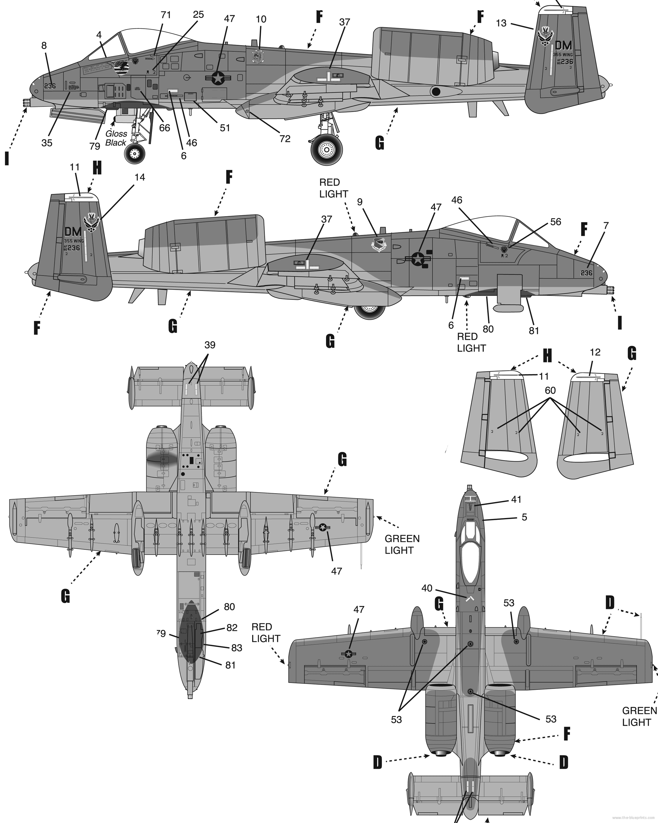 A 10 Thunderbolt Drawing Click for full-size