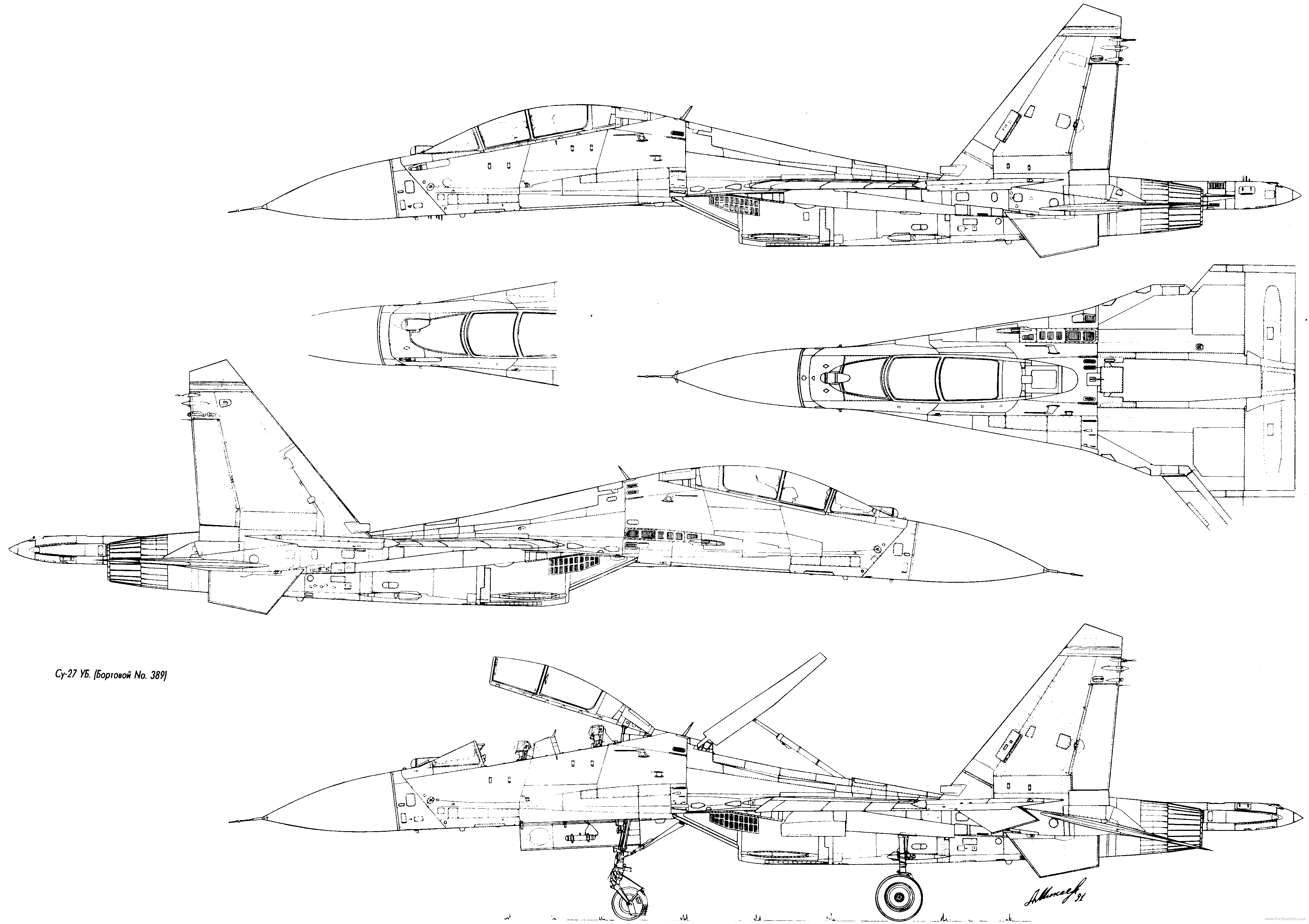 Sukhoi su 27 flanker fighter for Airplane plans