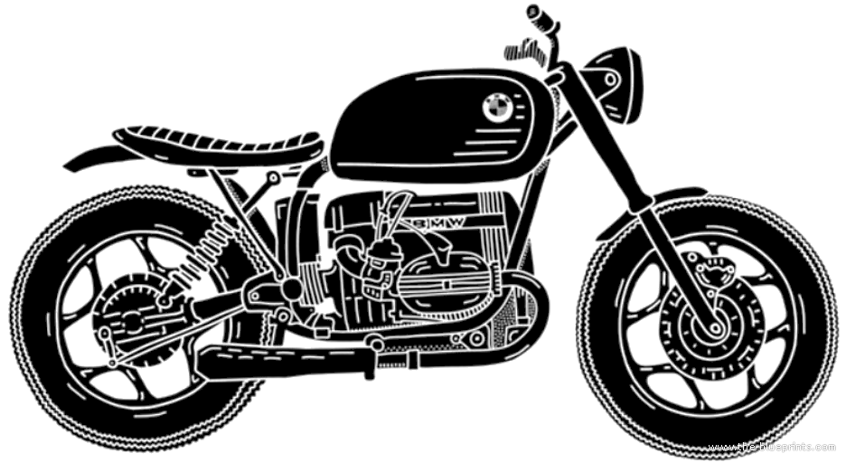 Blueprints motorcycles bmw bmw r80 cafe racer bmw r80 cafe racer malvernweather Images