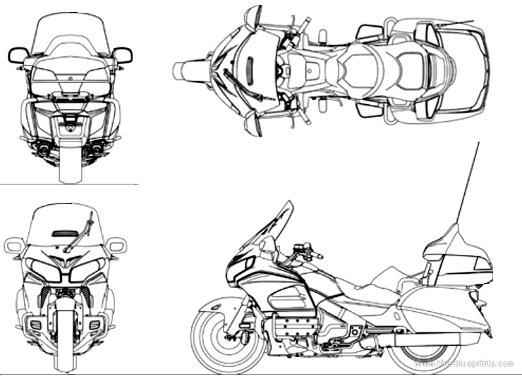 blueprints  u0026gt  motorcycles  u0026gt  honda  u0026gt  honda goldwing  2014