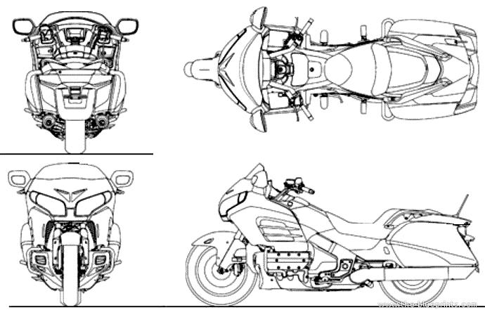 blueprints  u0026gt  motorcycles  u0026gt  honda  u0026gt  honda goldwing f6b  2014
