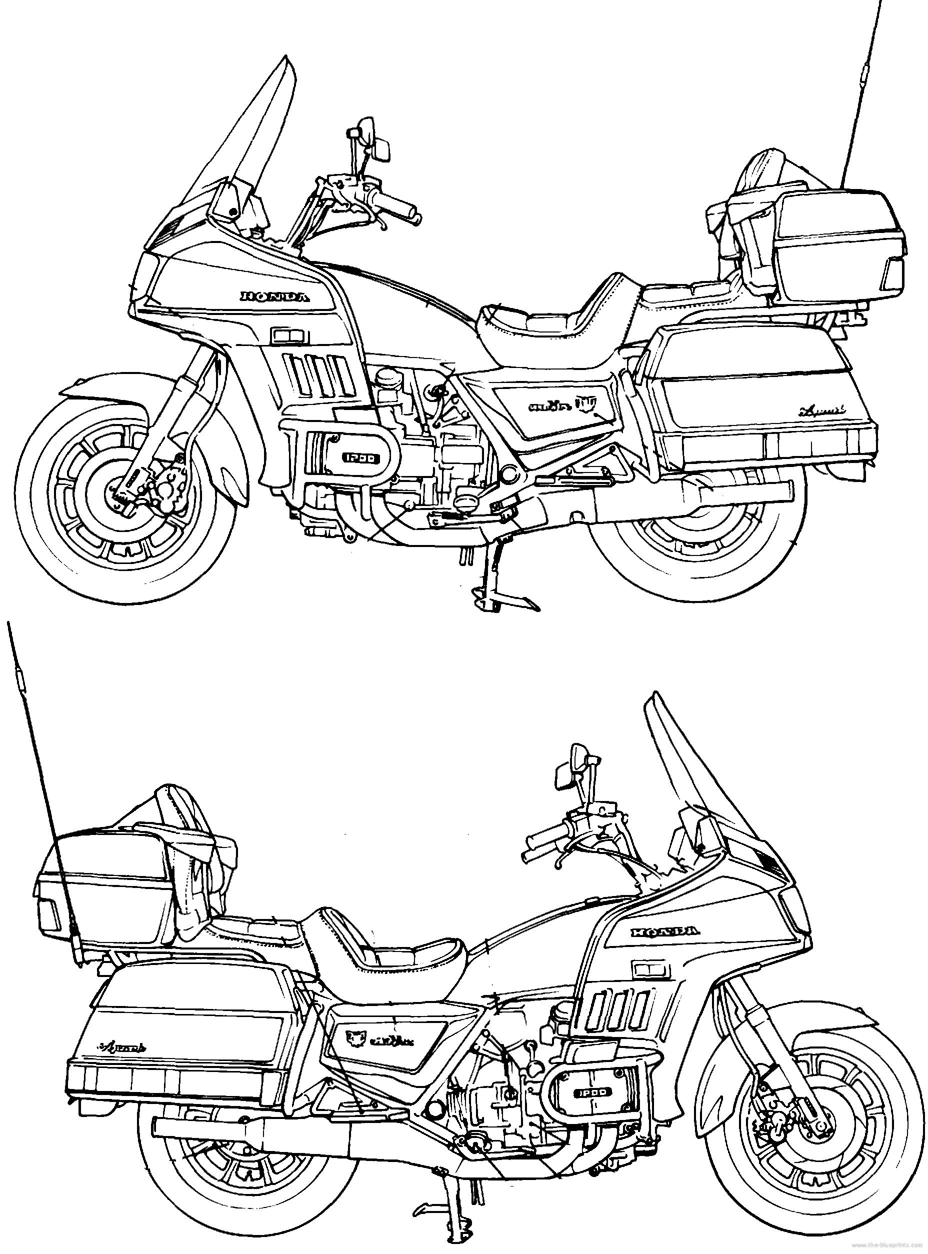 blueprints  u0026gt  motorcycles  u0026gt  honda  u0026gt  honda goldwing gl1200