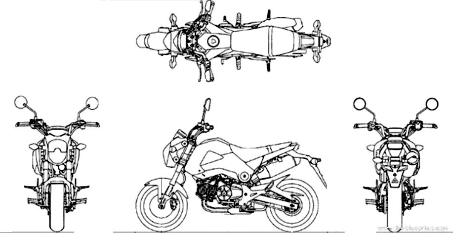 blueprints  u0026gt  motorcycles  u0026gt  honda  u0026gt  honda grom  2014