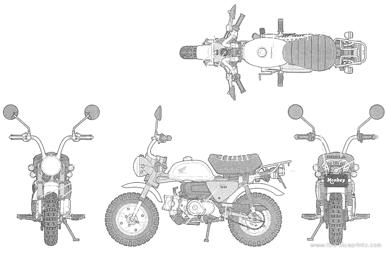 blueprints  u0026gt  motorcycles  u0026gt  honda  u0026gt  honda monkey  2009