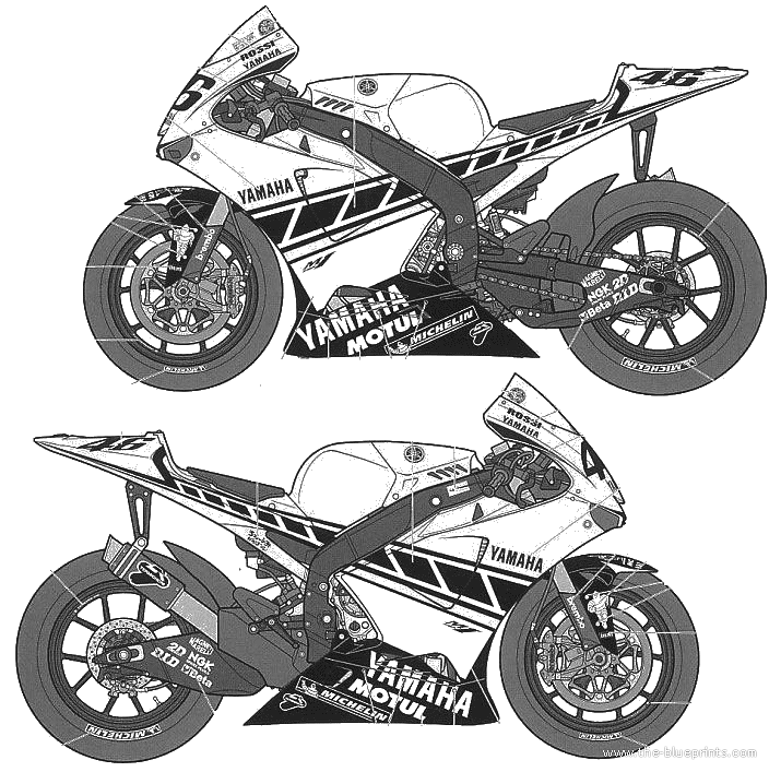 Blueprints Motorcycles Yamaha Yamaha Moto Gp