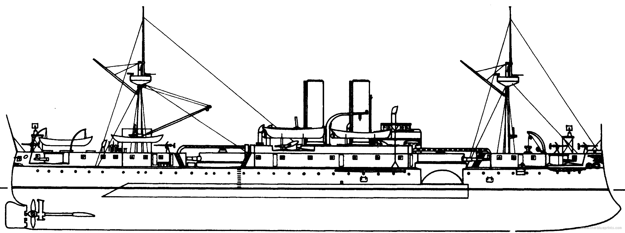 uss maine diagram