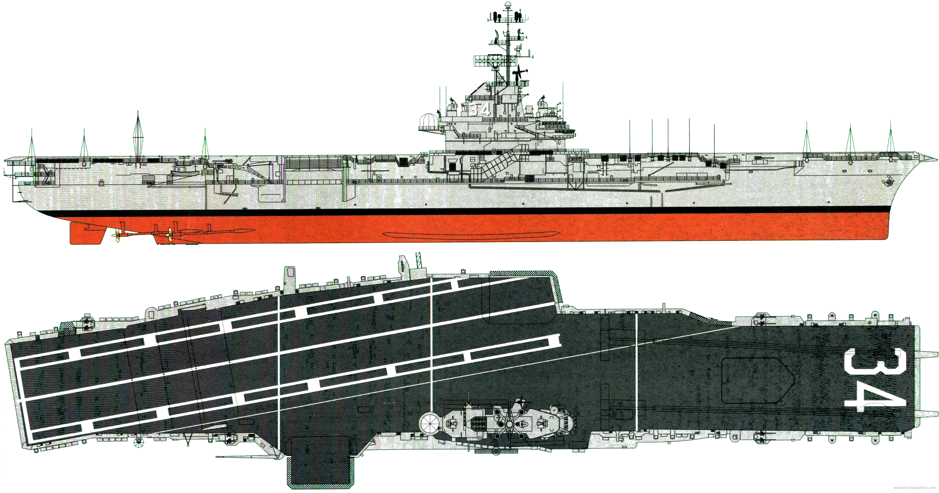 Car Carrier For Sale >> The-Blueprints.com - Blueprints > Ships > Carriers (US) > USS CV-34 Oriskany [Aircraft Carrier]