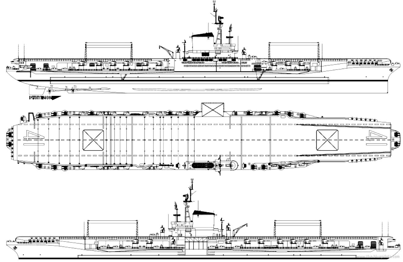 Blueprints Ships Carriers Us Uss Cv 41 Midway 1945 Aircraft Carrier