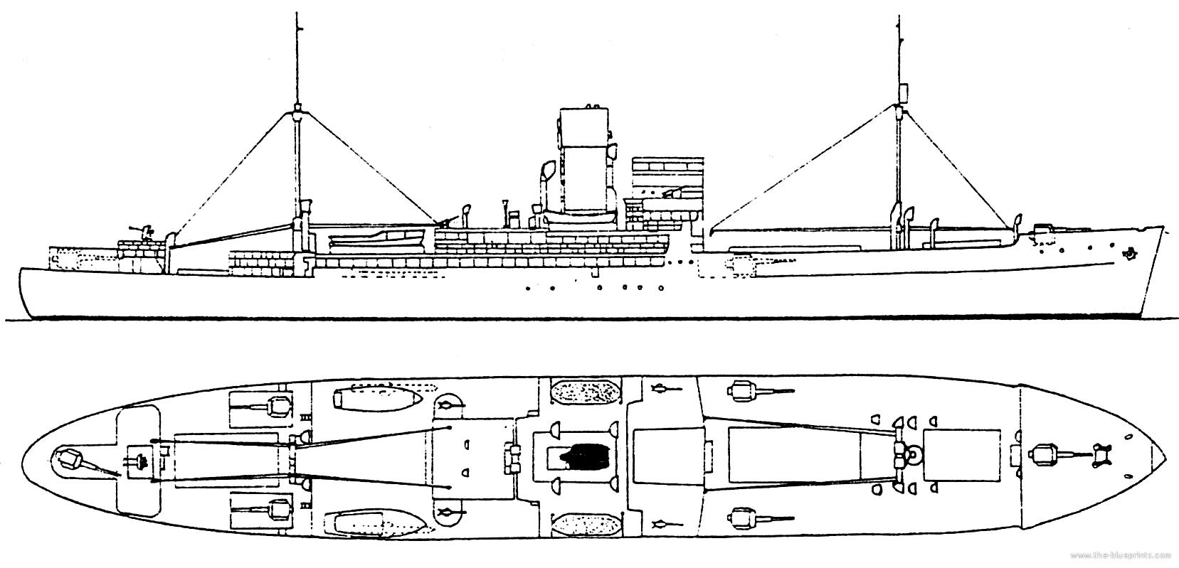 Blueprints ships cruisers germany dkm thor hsk 4 1940 dkm thor hsk 4 1940 auxiliary cruiser ex santa cruz malvernweather Images