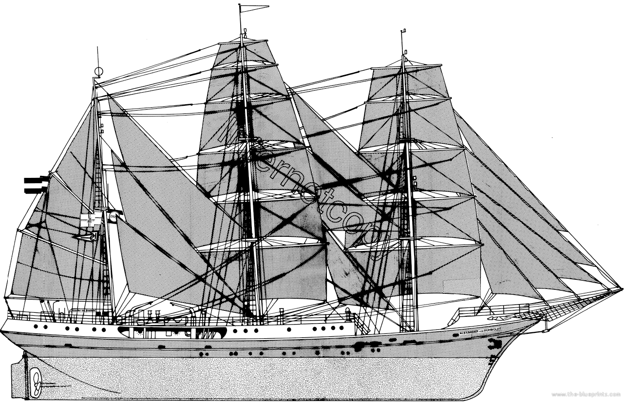 Ships Blueprints http://www.the-blueprints.com/blueprints/ships/ships-other/43187/view/alexander_von_humbolt_%28sail_ship%29/