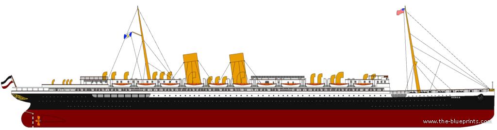 blueprints ships ships other ss hansa ex ss deutschland ocean liner 1922. Black Bedroom Furniture Sets. Home Design Ideas