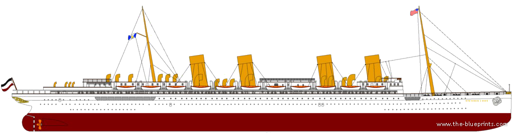 blueprints ships ships other ss viktoria luise ex ss deutschland ocean liner 1912. Black Bedroom Furniture Sets. Home Design Ideas