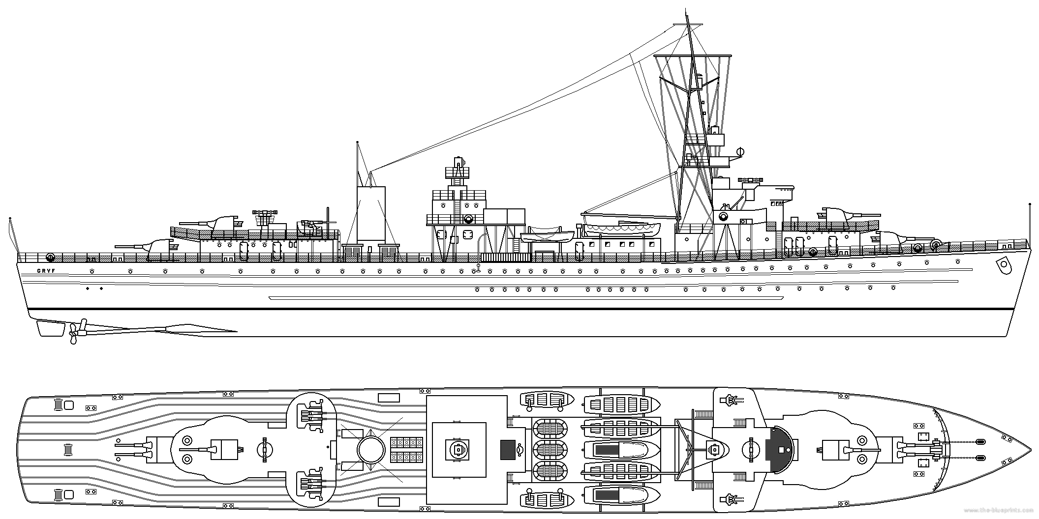 ORP Gryf Blueprint