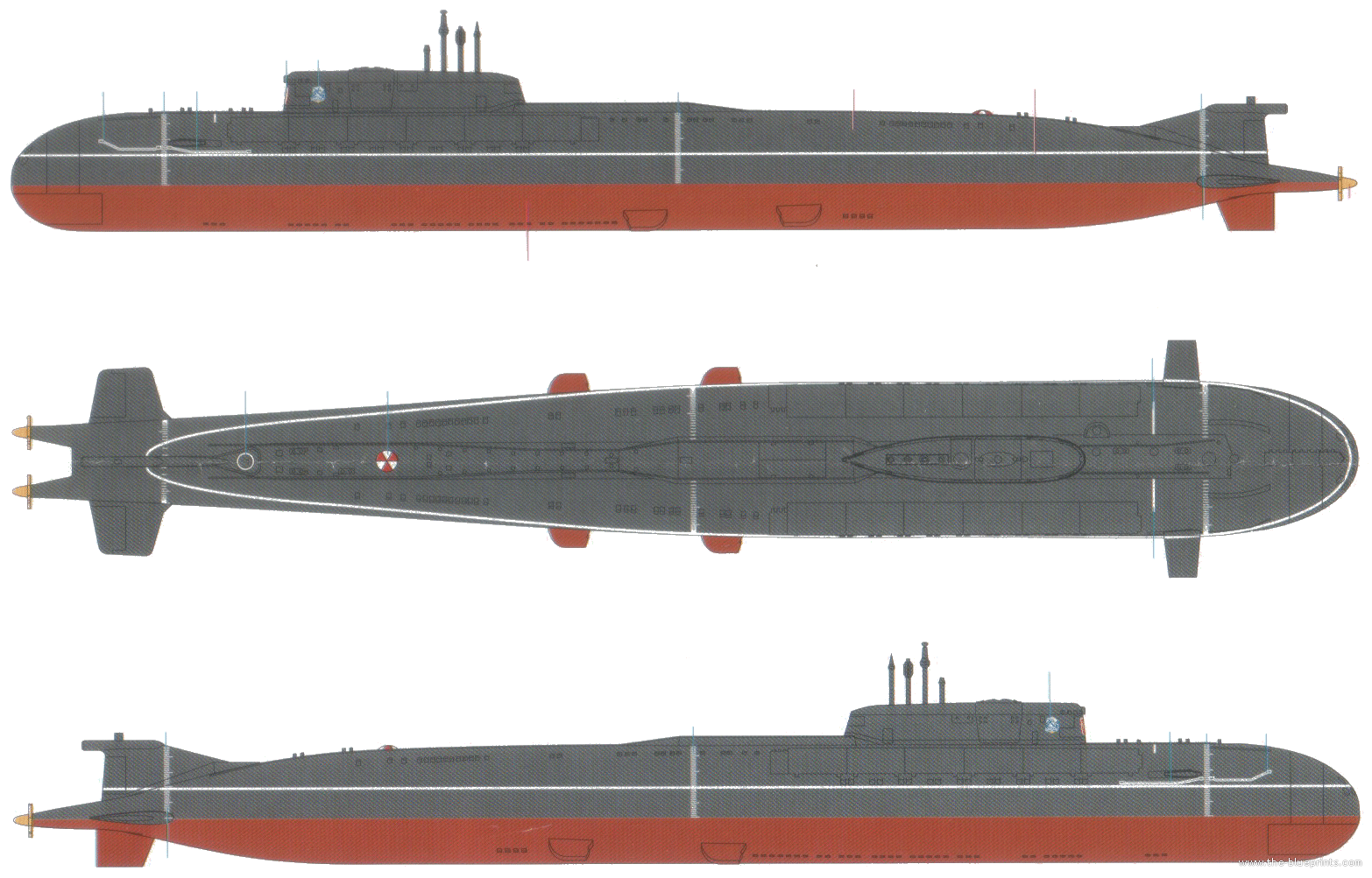the blueprints ships ships russia russian navy oscar ii class submarine. Black Bedroom Furniture Sets. Home Design Ideas