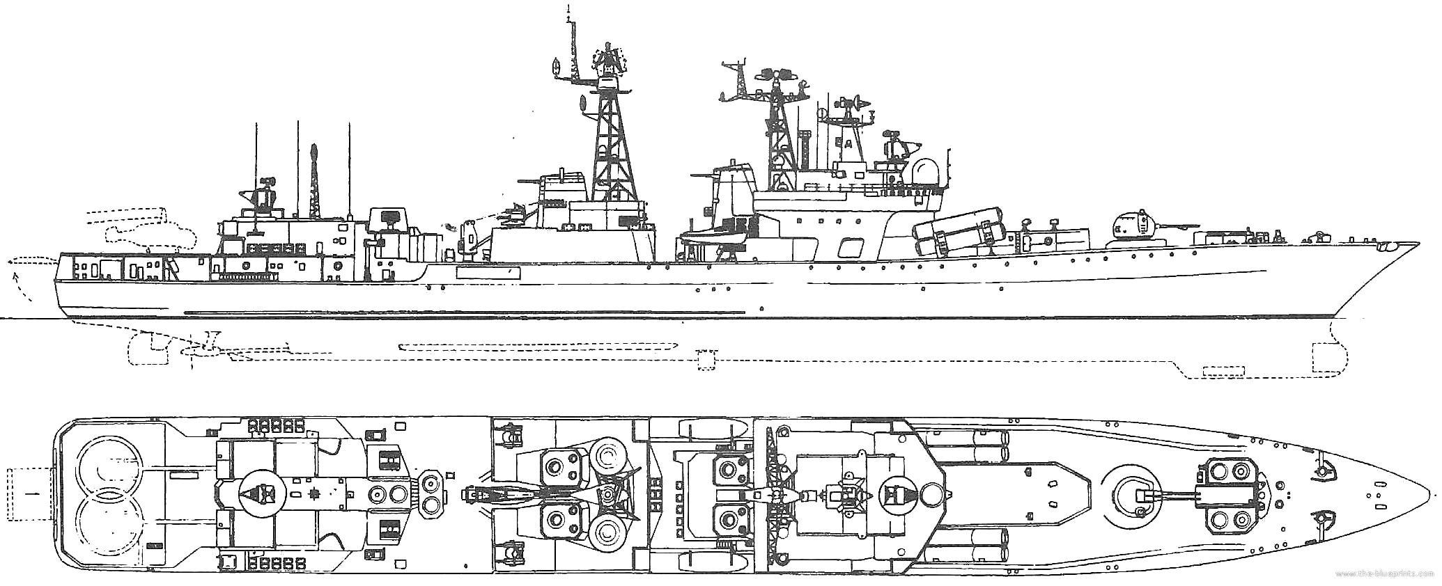 Udaloy and Sovremennyy destroyers - Page 6 Ussr--admiral-chabanenko-1999-udaloy-class-destroyer