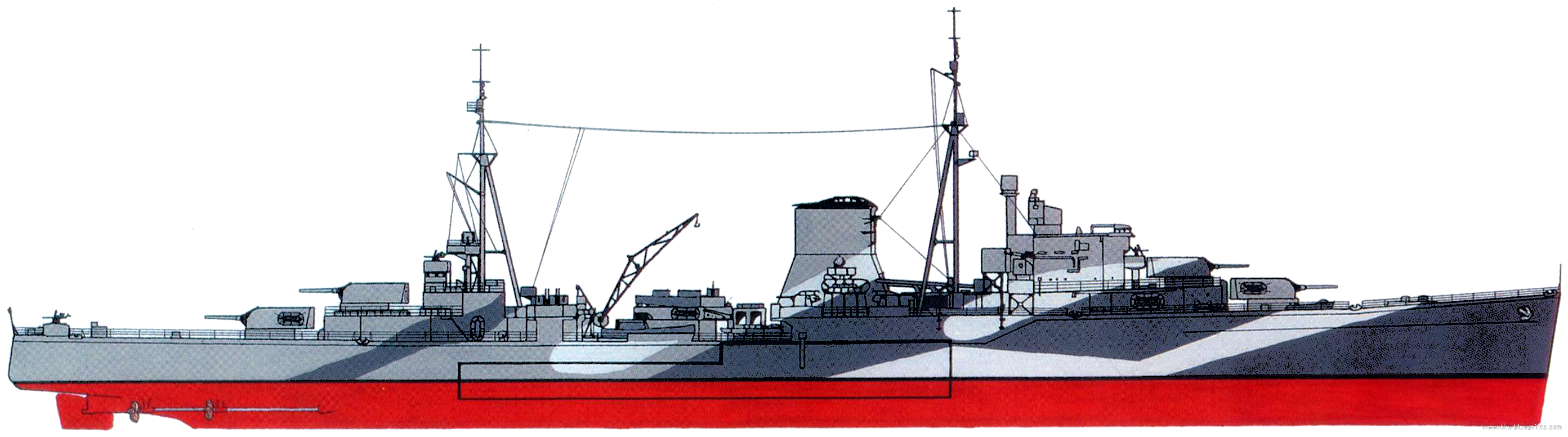 The-Blueprints.com - Blueprints > Ships > Ships (UK) > HMS Ajax [Light