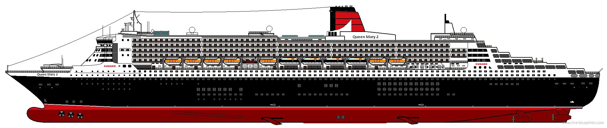 TheBlueprintscom Blueprints Ships Ships UK RMS Queen - Cruise ship drawings