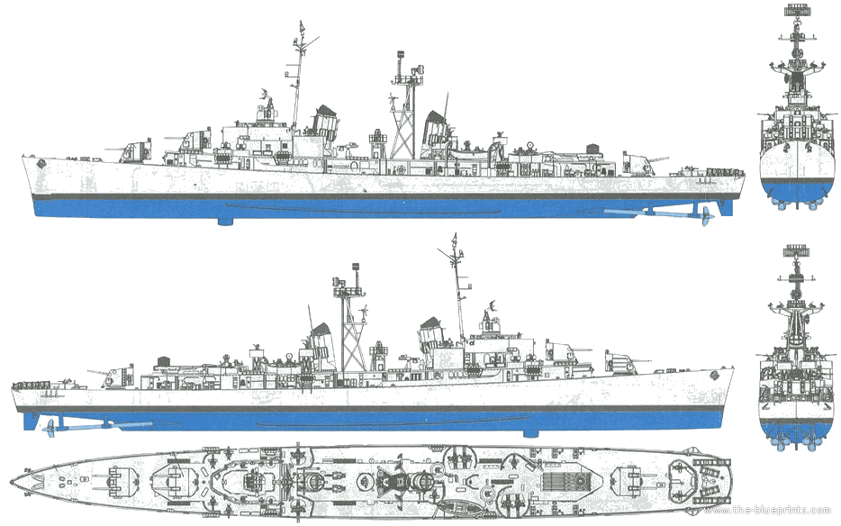 Ships Blueprints http://www.the-blueprints.com/blueprints/ships/ships-us/52494/view/uss_dd-742_frank_knox_%5Bdestroyer%5D/