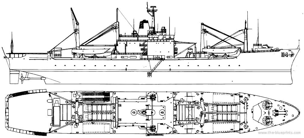 Cargo Ship Blueprint : Uss lka durham attack cargo ship