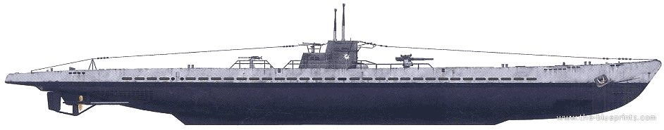Blueprints > Ships > Submarines (Germany) > DKM U-124 (U ...