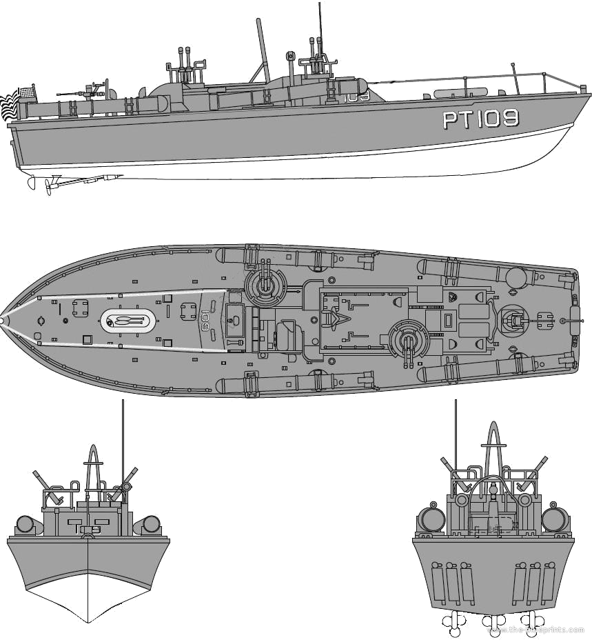 Blueprints ships submarines us uss pt 109 torpedo boat uss pt 109 torpedo boat malvernweather Gallery
