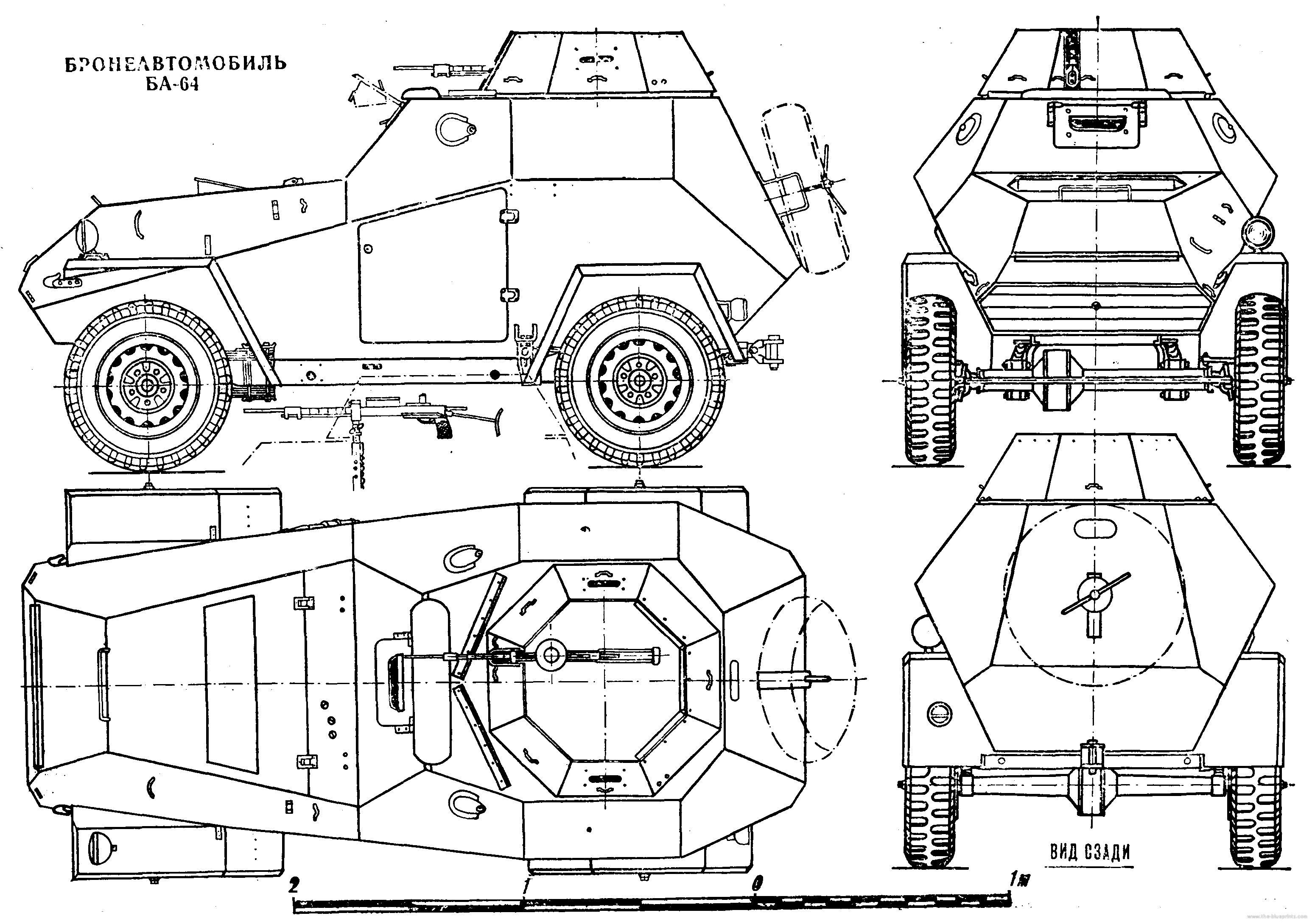 Blueprints \u003e Tanks \u003e Russian Tanks \u003e Ba 64 Mod 43 Wiring  GFCI Outlets In Series Cj Wiring Diagram 1952