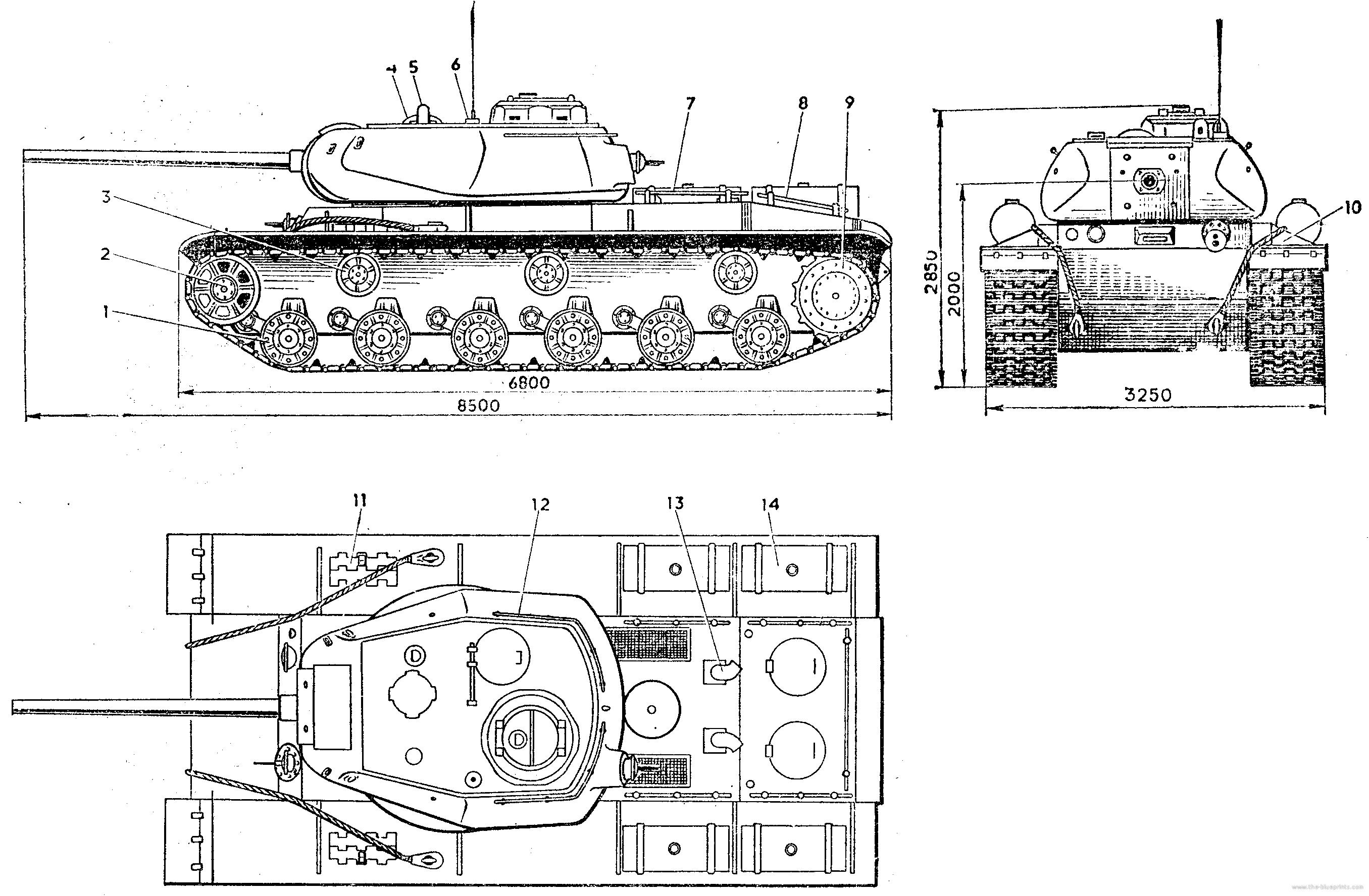 рисуем танк кв-1
