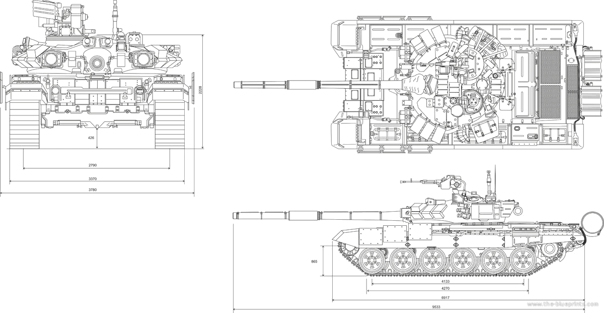 Blueprints > Tanks > Russian Tanks > T-90 Tank