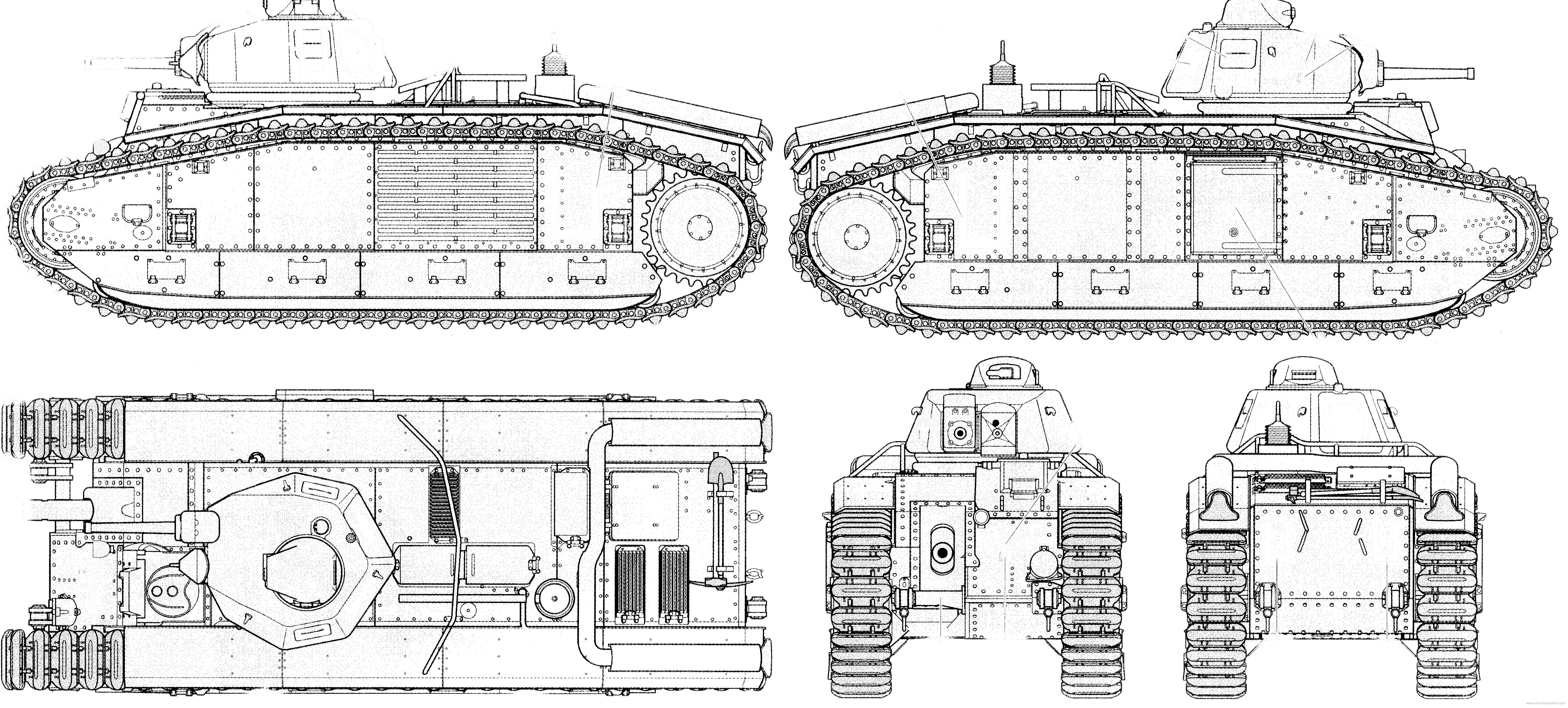 Blueprints tanks tanks b b1bis french tank b1bis french tank malvernweather Image collections