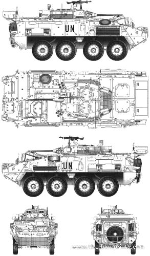 The-Blueprints.com - Blueprints > Tanks > Tanks K-L > LAV-25 Piranha