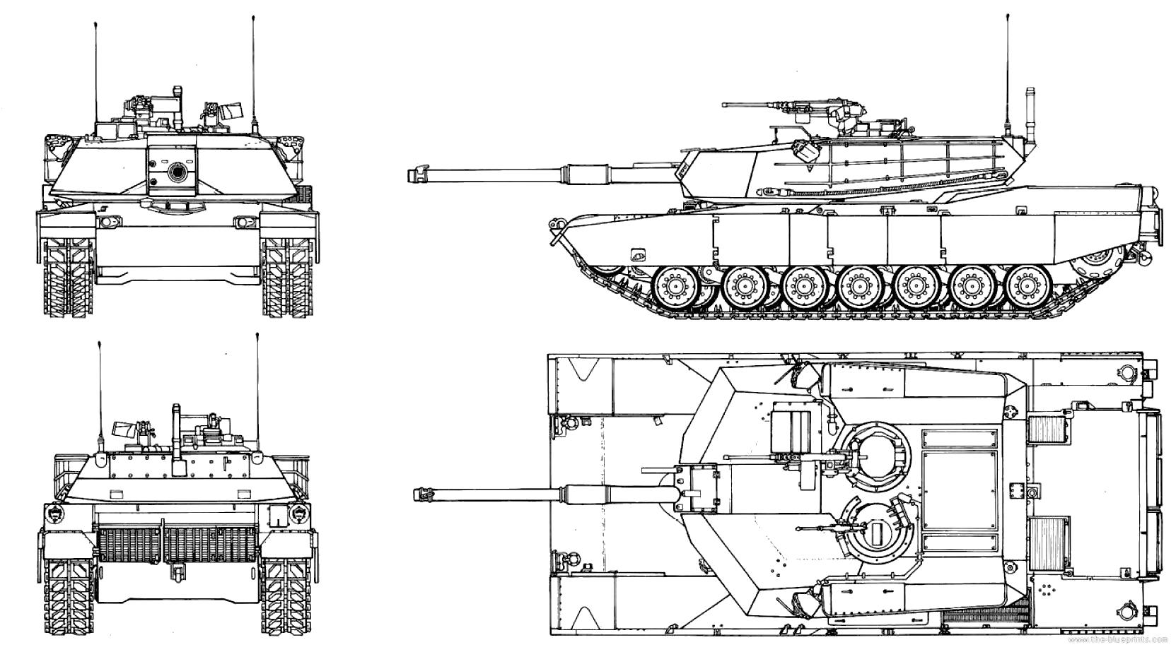 M1 Abrams  M1 Abrams Tank Drawing