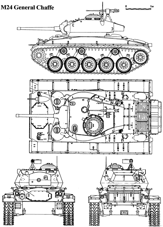 M24 Chaffee Tank Schematics Modern Blueprints Tanks 2201x3057