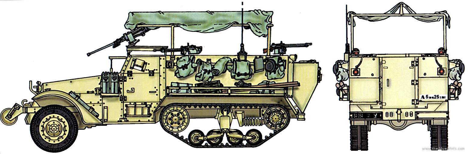 The-Blueprints.com - Blueprints > Tanks > Tanks M > M3 Half Track