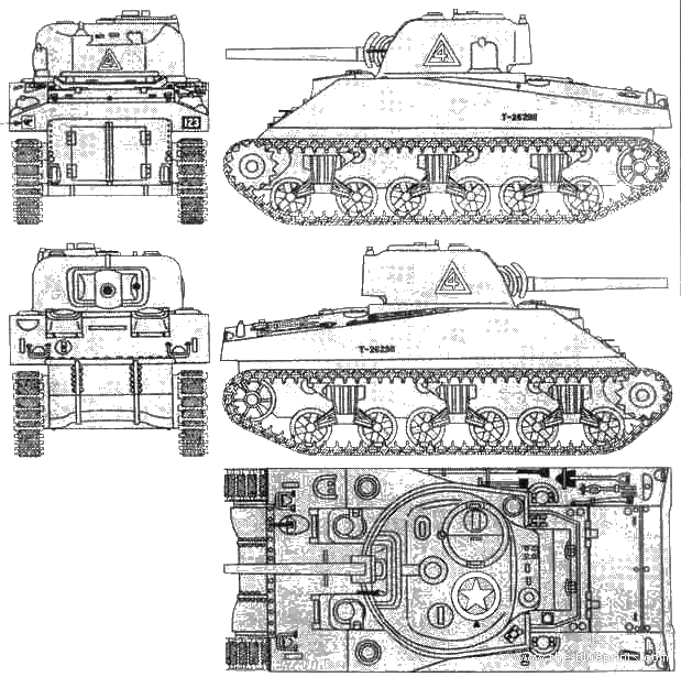 Blueprints tanks tanks m m4 sherman mk i for Blueprint size prints