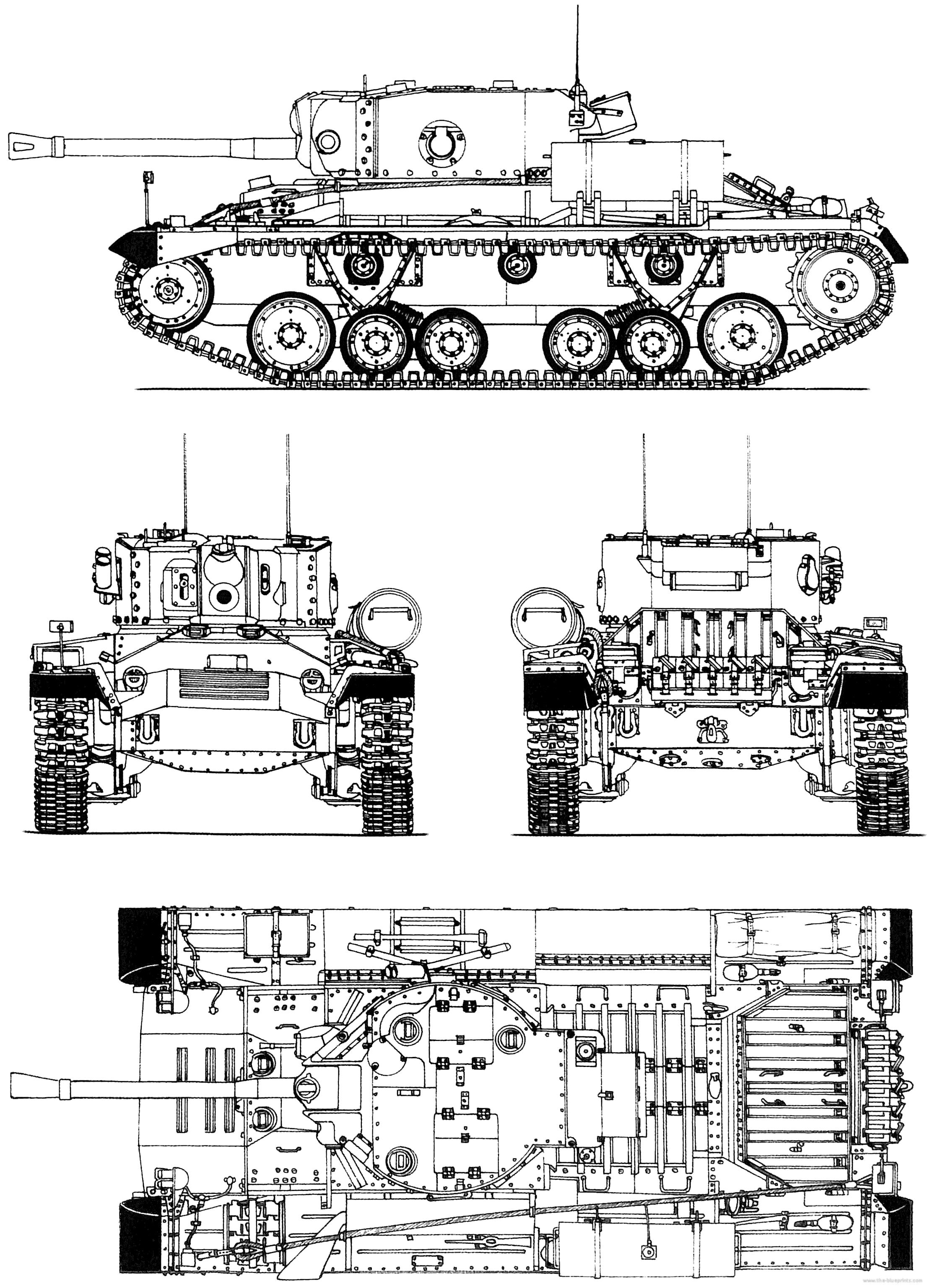 Blueprints Tanks Tanks U Z Valentine Mk Xi Vickers Infantry