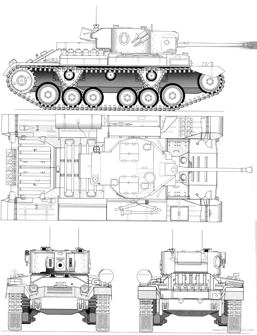 Blueprints Tanks Tanks U Z Valentine Xi