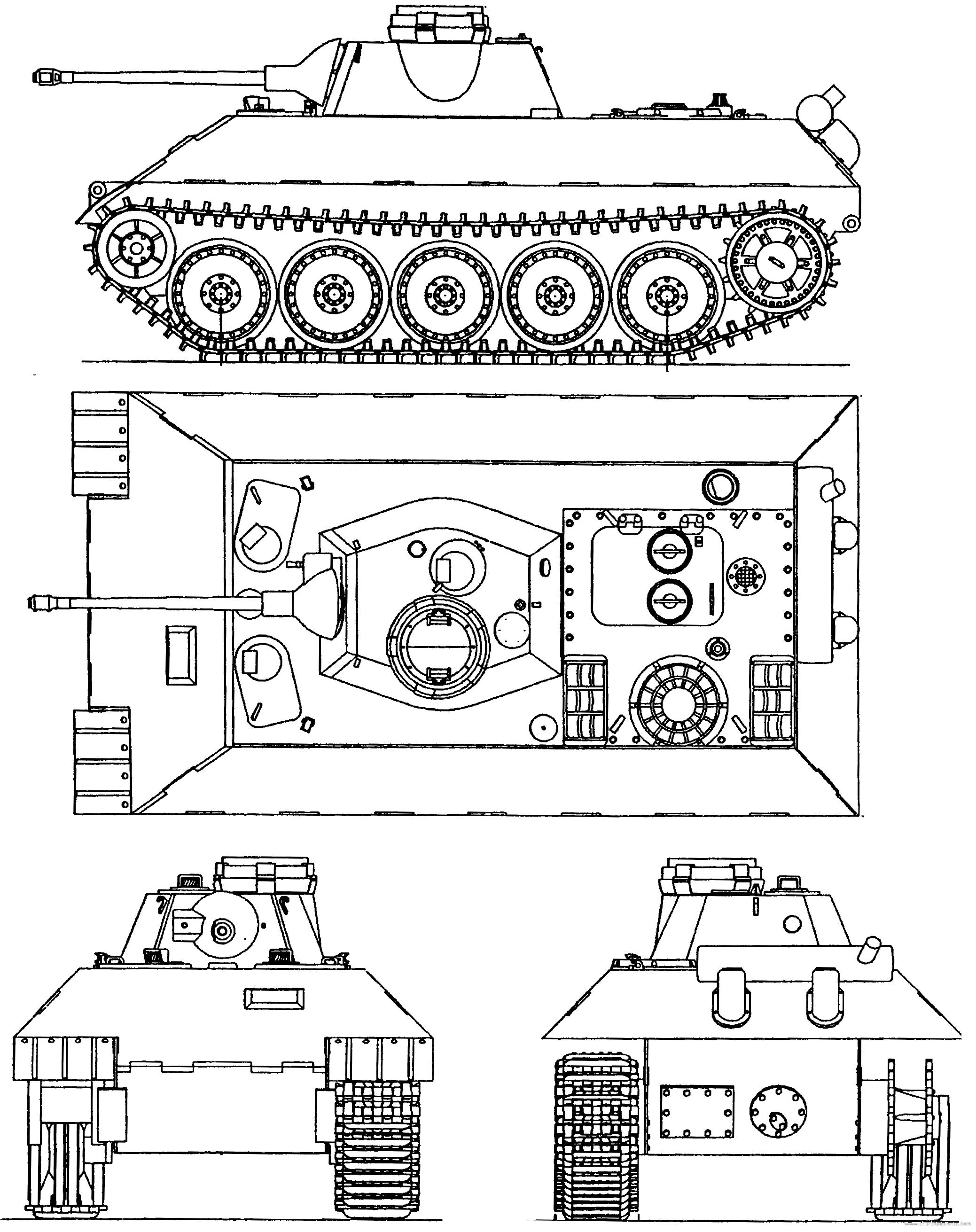 Blueprints tanks tanks u z vk 1602 leopard vk 1602 leopard malvernweather Images
