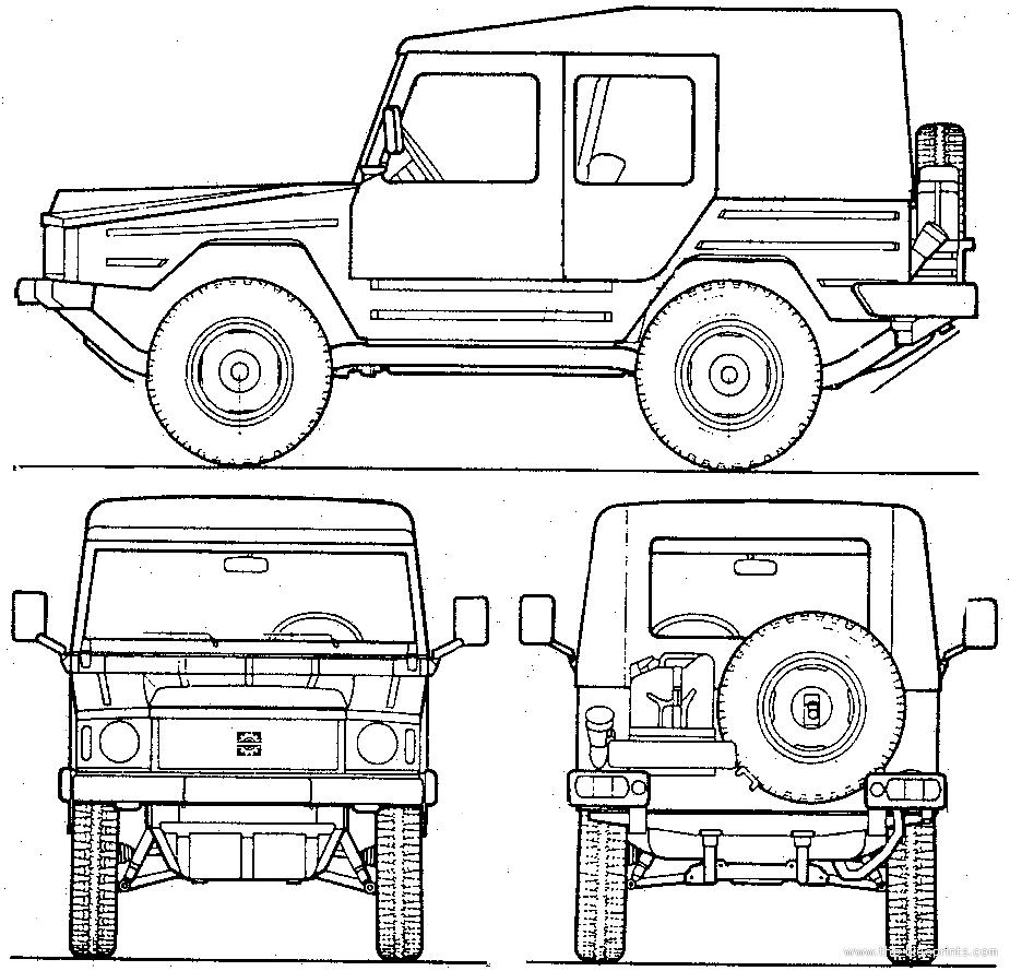 Blueprints > Tanks > Tanks U-Z > Volkswagen Iltis Type 183 Bombadier