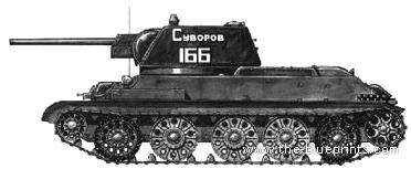 t 34 blueprints  34-76