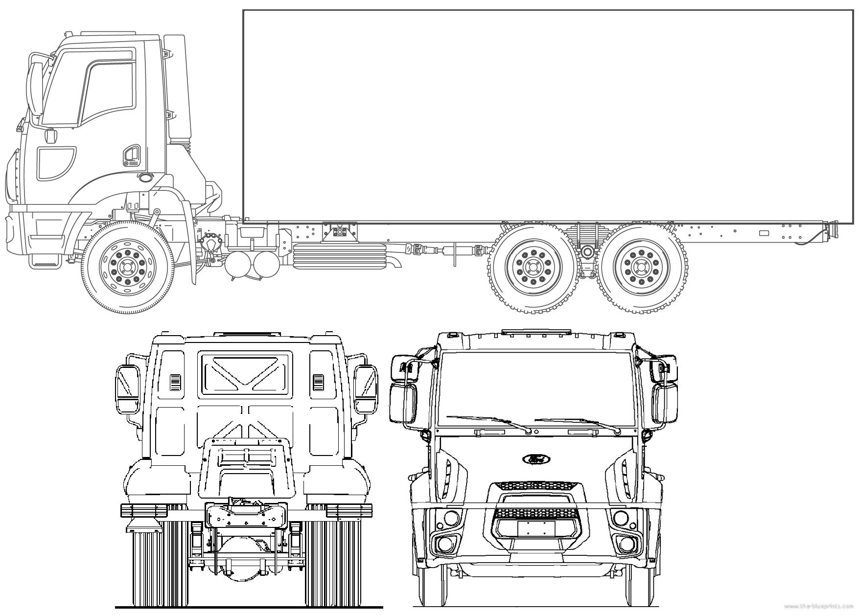 Ford Br Cargo on Ford V6 Engine Blueprints