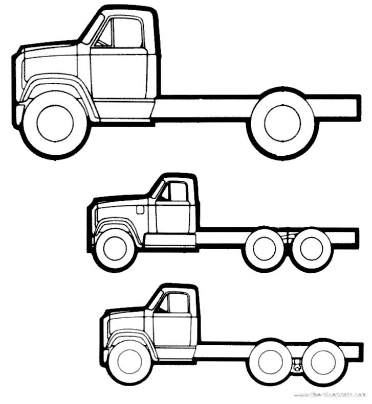 blueprints  u0026gt  trucks  u0026gt  gmc  u0026gt  gmc series 9500  1972