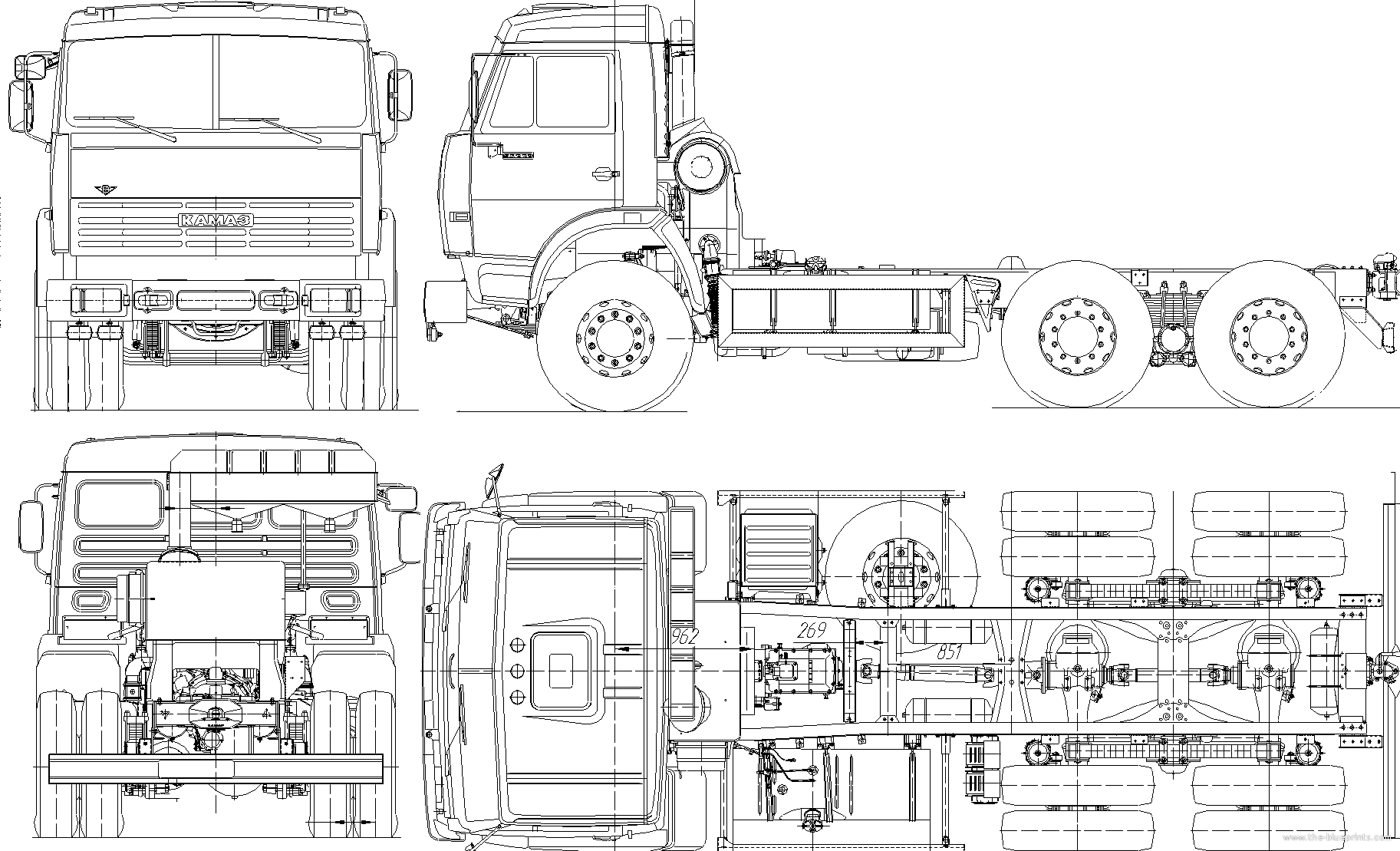 The Blueprints Com Blueprints Gt Trucks Gt Kamaz Gt Kamaz 53229