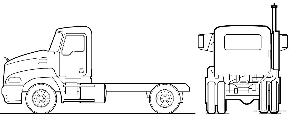 blueprints  u0026gt  trucks  u0026gt  mack  u0026gt  mack vision cxn602  2002